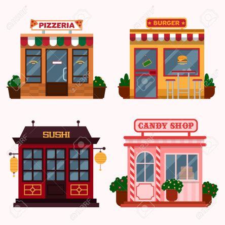 54335506-Ilustraci-n-de-los-edificios-que-se-encuentran-restaurantes-caf-s-comida-r-pida-pizzer-a-italiana-ti-Foto-de-archivo.jpg